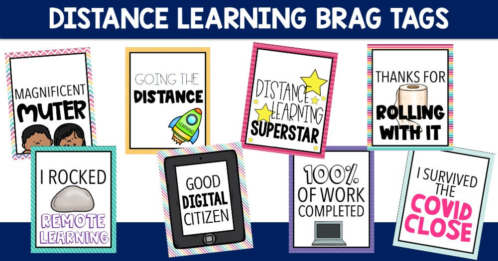 Distance Learning Brag Tags