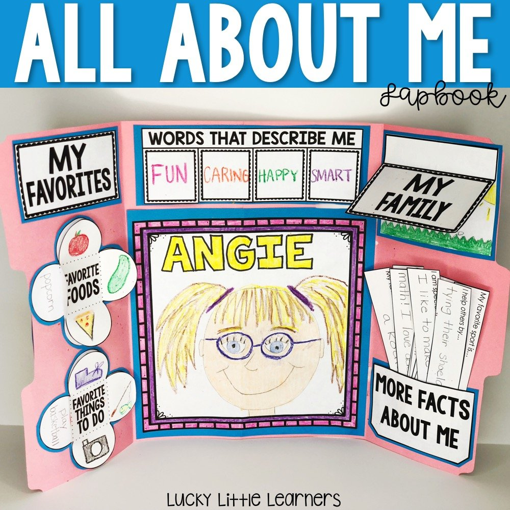 If you are sending home materials, try our All About Me Lapbook. It is great for work on those essential fine motor skills, and it is a FUN way for students to share about themselves. This is a great back to school activity!