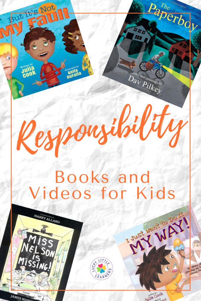 Responsibility is such an important skill for kids to learn while they are young. One of the greatest ways to teach this characteristic is through videos and books. The assortment of both books and videos below will be sure to interest and be an enjoyable way for your students to learn all about responsibility and how they can be responsible in their daily lives.