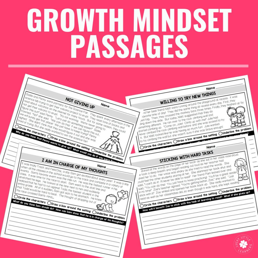 Growth mindset will be an important skill to teach this upcoming school year. These reading passages will teach your students about grit, determination, mindset, and more!