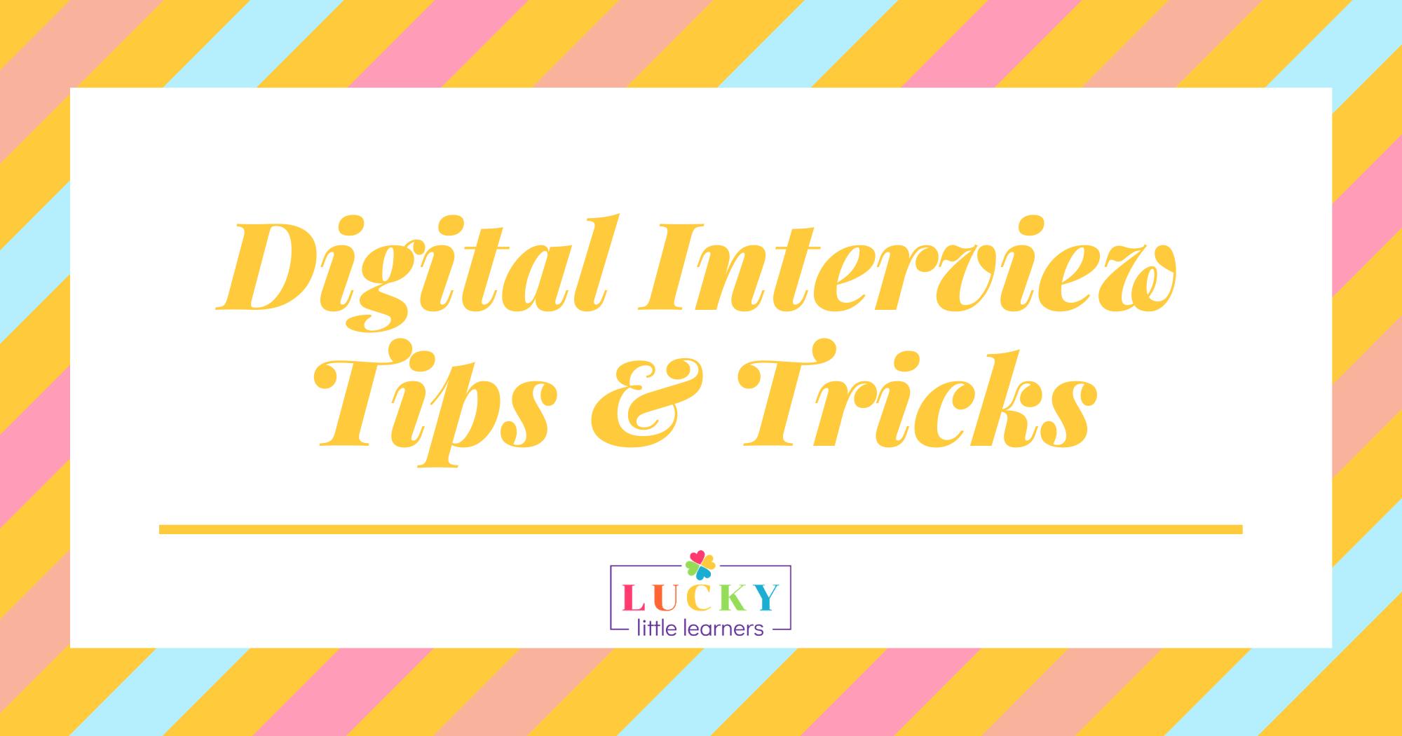 Digital Teacher Interview Tips & Tricks