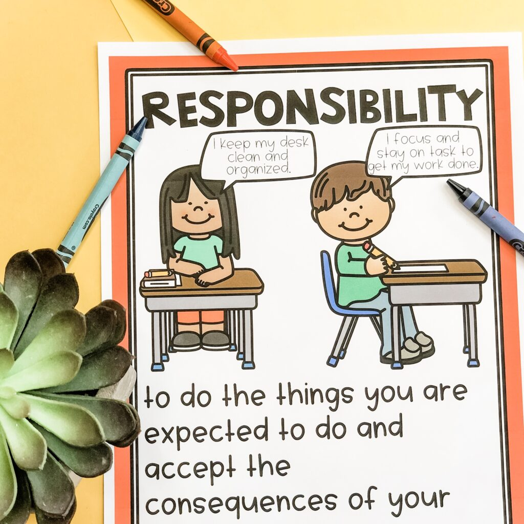 responsibility character poster