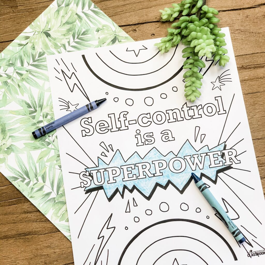 self control coloring pages