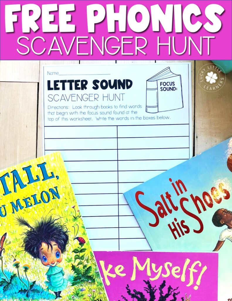 This free phonics activity will have your students searching through books to find words like a scavenger hunt.