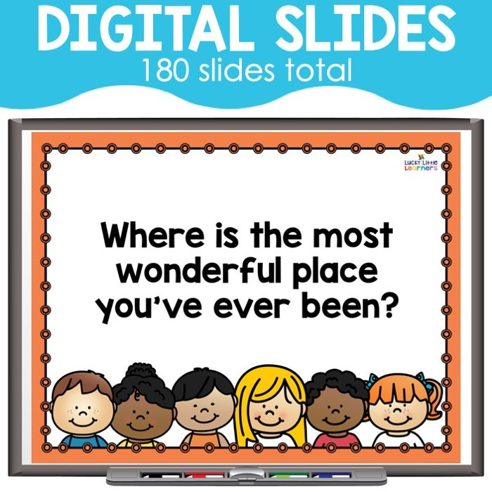 Digital morning meeting slides are a great option for virtual morning meetings while distance learning.  These are great community building activities for the fall or all year long!