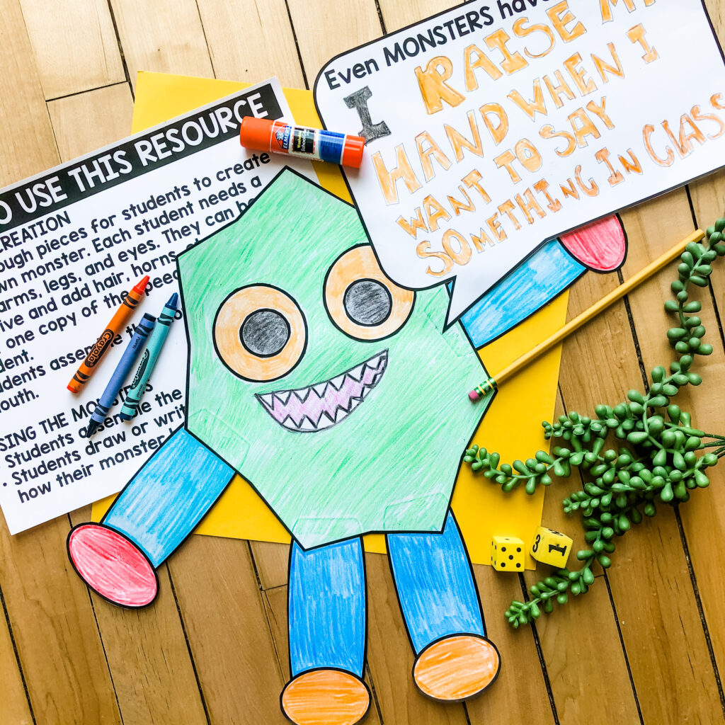 Manners Monster is a great art project to help reinforce the concept of using manners.  Take a look at the rest of the activities to teach kids manners in this post.