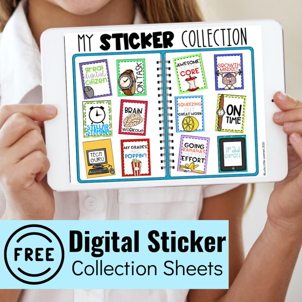 Digital stickers are a great way to reward and incentivize students while they are distance learning.  Grab your free digital sticker collection sheets and start using them right away!
