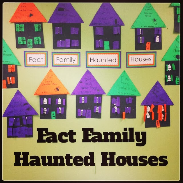 Fact Family Haunted Houses are another fun project to do with your class in the month of October.  Combining an art project with math skills can make for a really great activity that will be sure to have your students enjoying themselves.