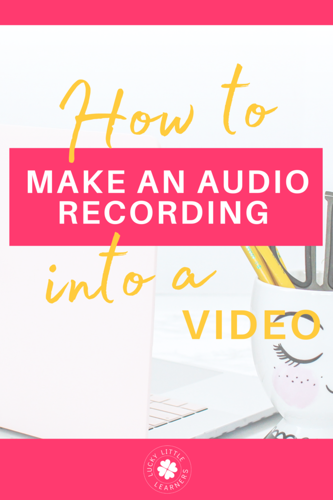 You can easily make your own audio recording to share to YouTube, embed in Google Forms, or use on other apps or platforms that allow videos but not audio recordings. There's no need to sit in front of the camera or do a screen recording. Here is an easy way to make an audio recording into a video.