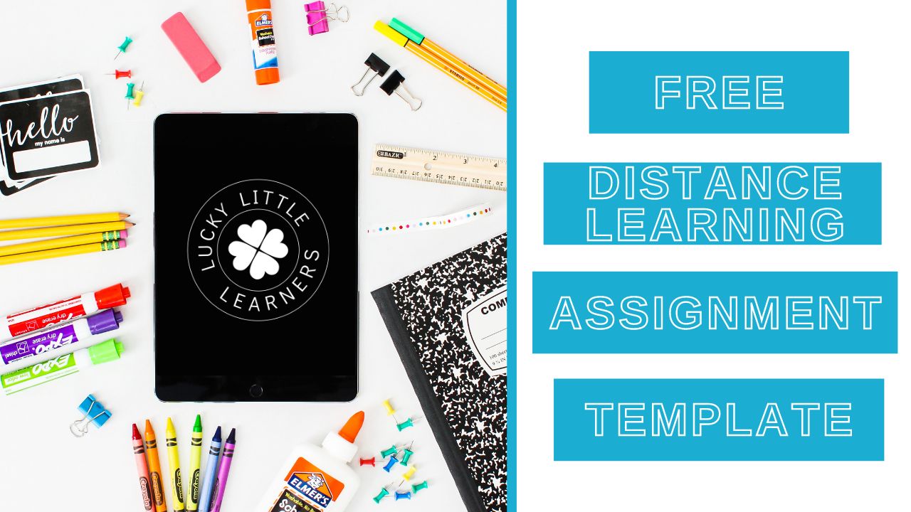Free Distance Learning Assignment Template