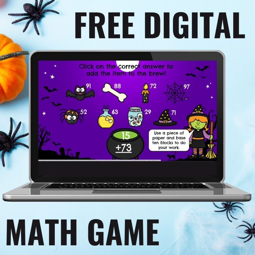 Check out this free Halloween digital math game!  Students solve the problems to help the witch make her witch's brew!