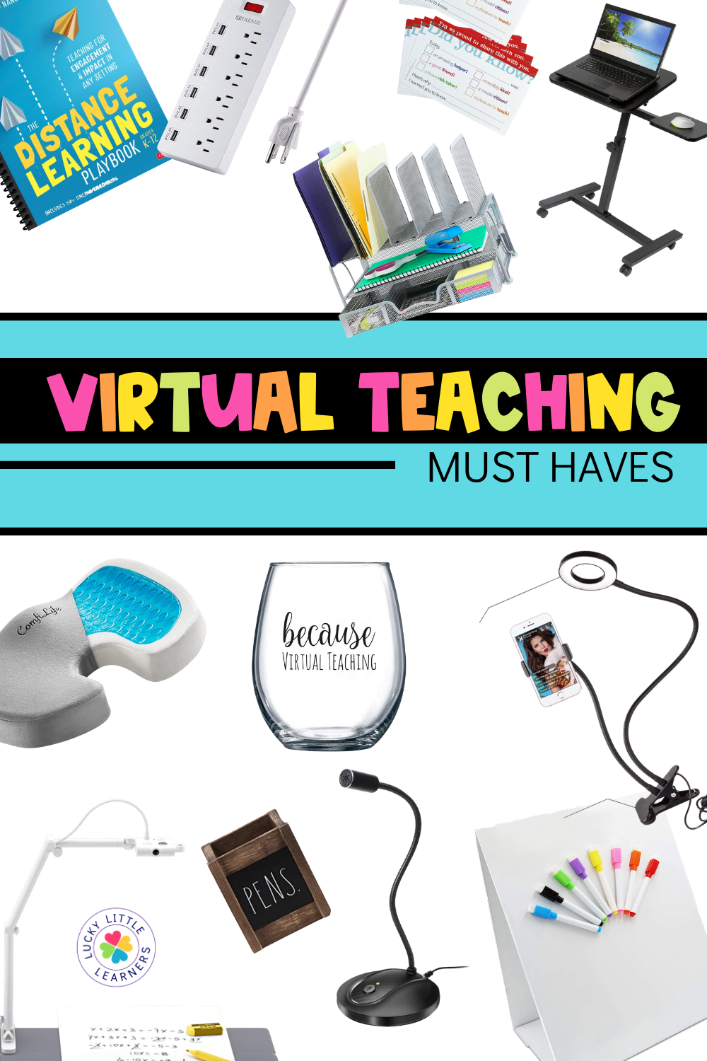 Distance Teaching/Learning is the new (temporary) norm for many teachers and students this school year. Teaching from home or through the screen, while it has its challenges, can be very successful. How? Love, sweat, tears...and the right tools! Check out our favorite distance learning tools from Amazon below.