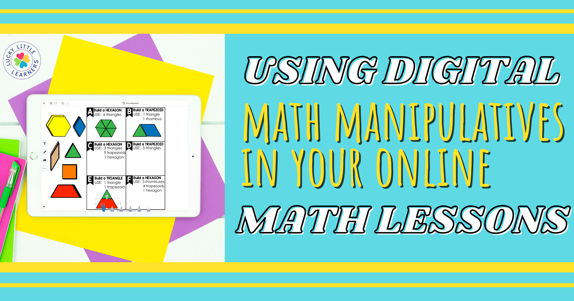 Digital Math Manipulatives for Google Classroom and Seesaw