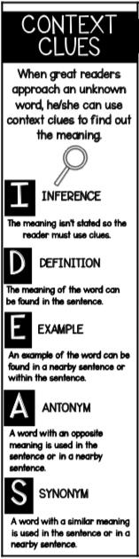 context clues bookmark