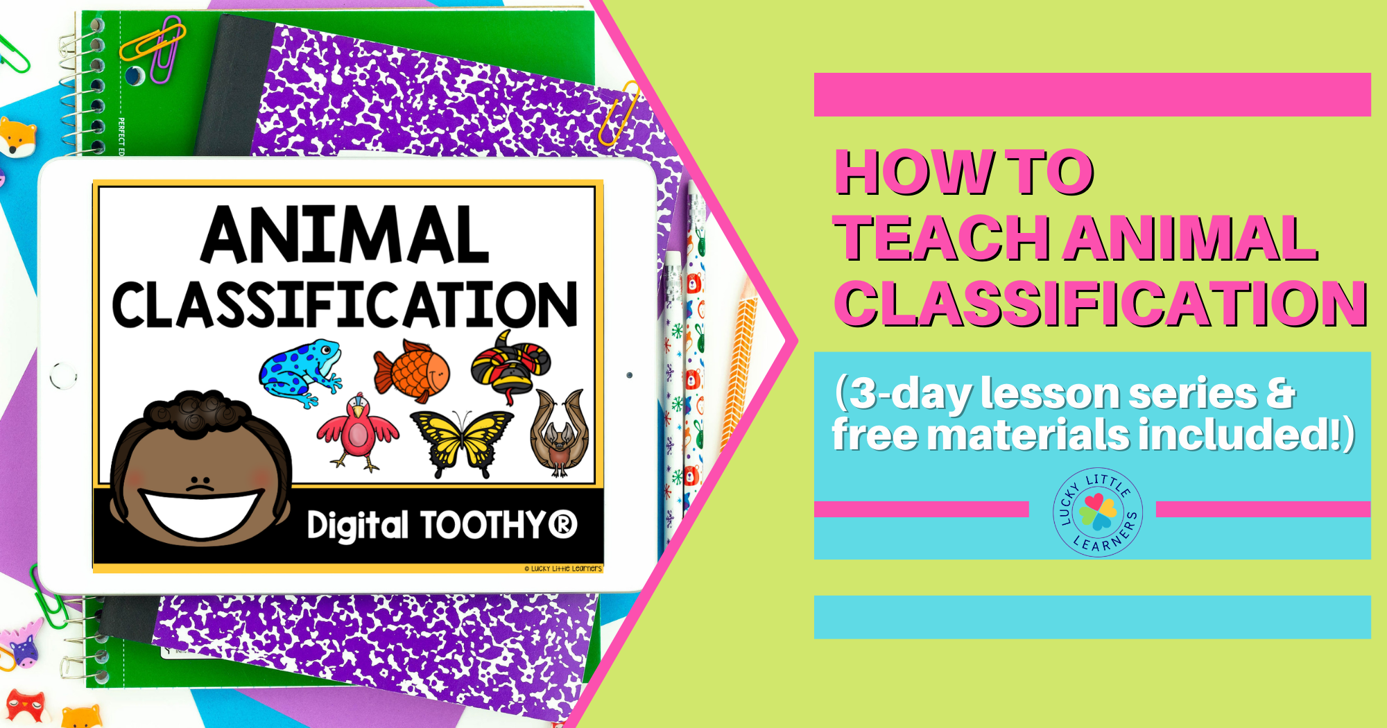 Animal Classification 3-Day Lesson Plan (Free Materials Included)