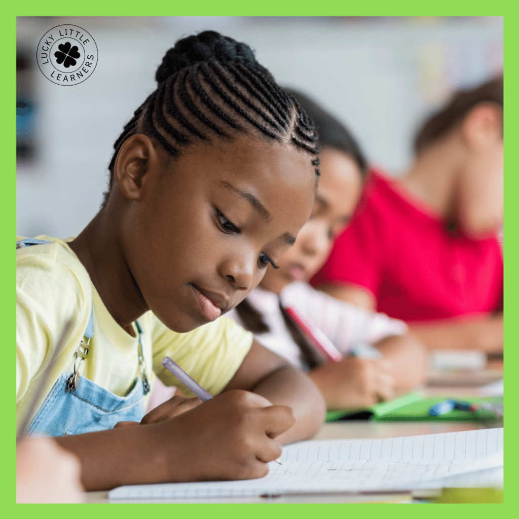 """Each week students can write about a time they used the SEL skill you're focusing on. The prompt for cooperation could be: """"Tell about a time you cooperated with a classmate"""". Or """"Tell about a time a friend cooperated with you."""" Students can then share their writing with the class to illustrate all the ways cooperation happens daily!"""