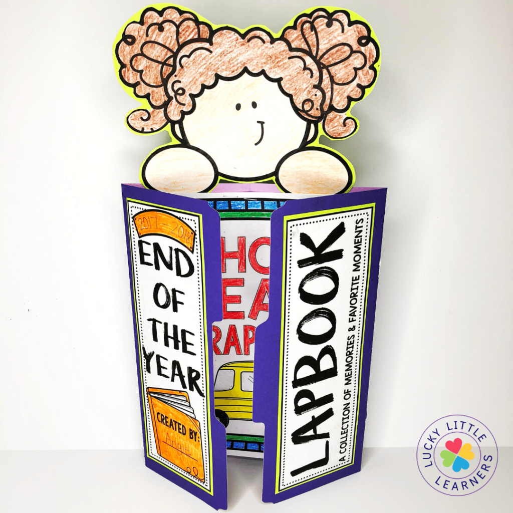 The Lucky Little Learners memory book kit has you covered with all the printable and digital resources you'll need to create end of the year memory books with your students!