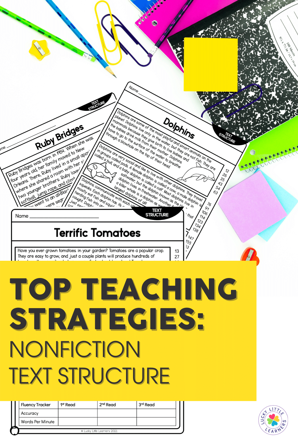 Teaching nonfiction text structure helps readers set a purpose for reading nonfiction as well as aids in their nonfiction comprehension and comfort. Also, by recognizing how their nonfiction text is organized, students can look for certain components to understand the text better.
