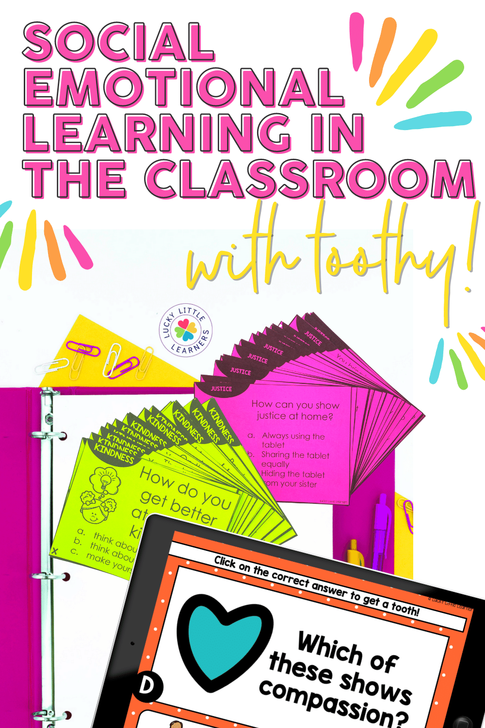 If you need more SEL activities and resources to help cement social emotional learning in your classroom, check out the SEL Toothy game!