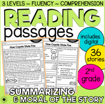 summarizing 2nd grade reading passages