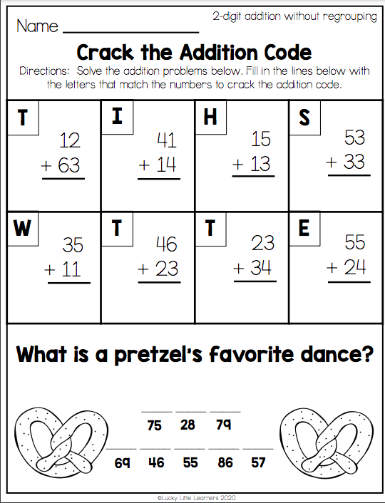 No Stress With These 2nd Grade Math Worksheets - Lucky Little Learners