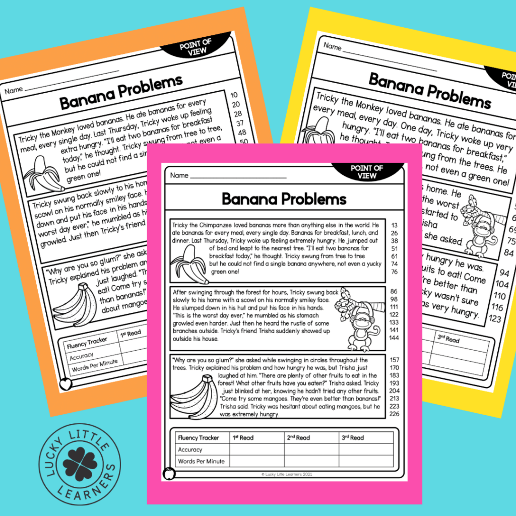 Whether you take a grade or just as a check for understanding the Point of View Reading Passages and worksheets are great for independent work in centers or when your students need an assessment. These sheets are wonderful for differentiation as well so you can check on understanding for all the types of learners that you have! Just print, copy, and assess!