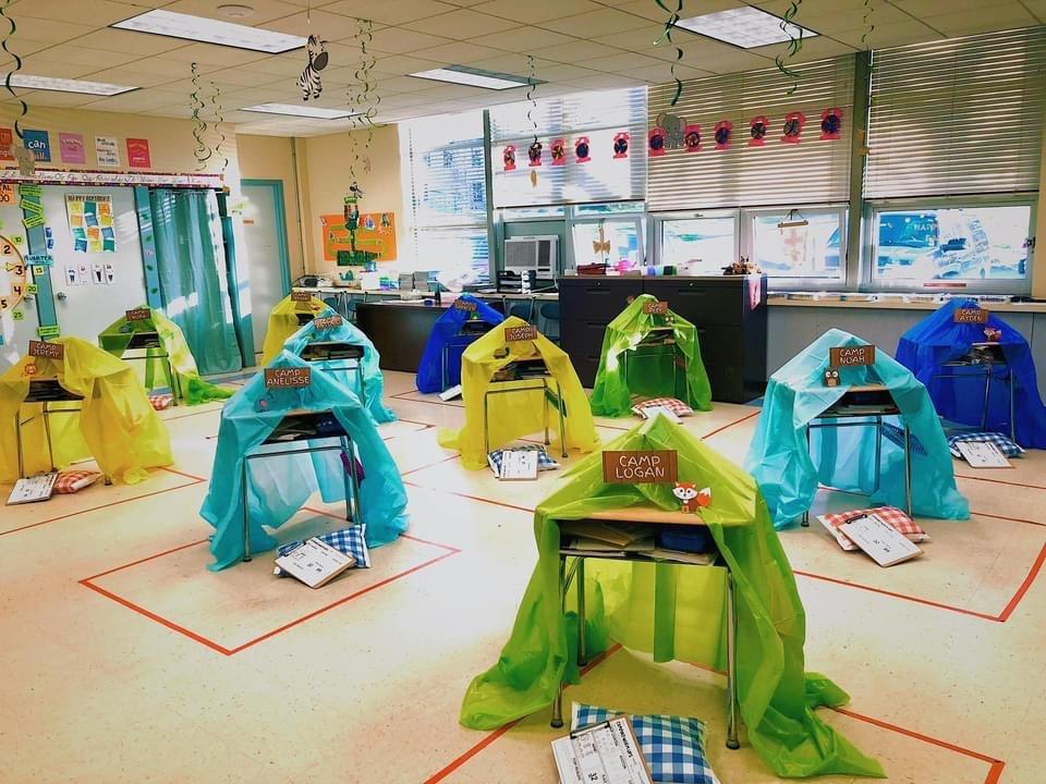 Individual Desk Tents for Camp Read a Lot