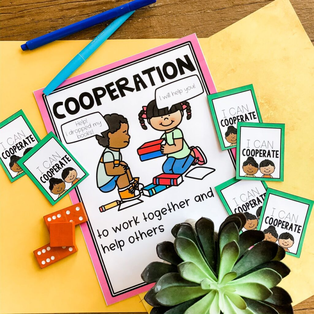 Cooperation Social Emotional Learning Anchor Chart
