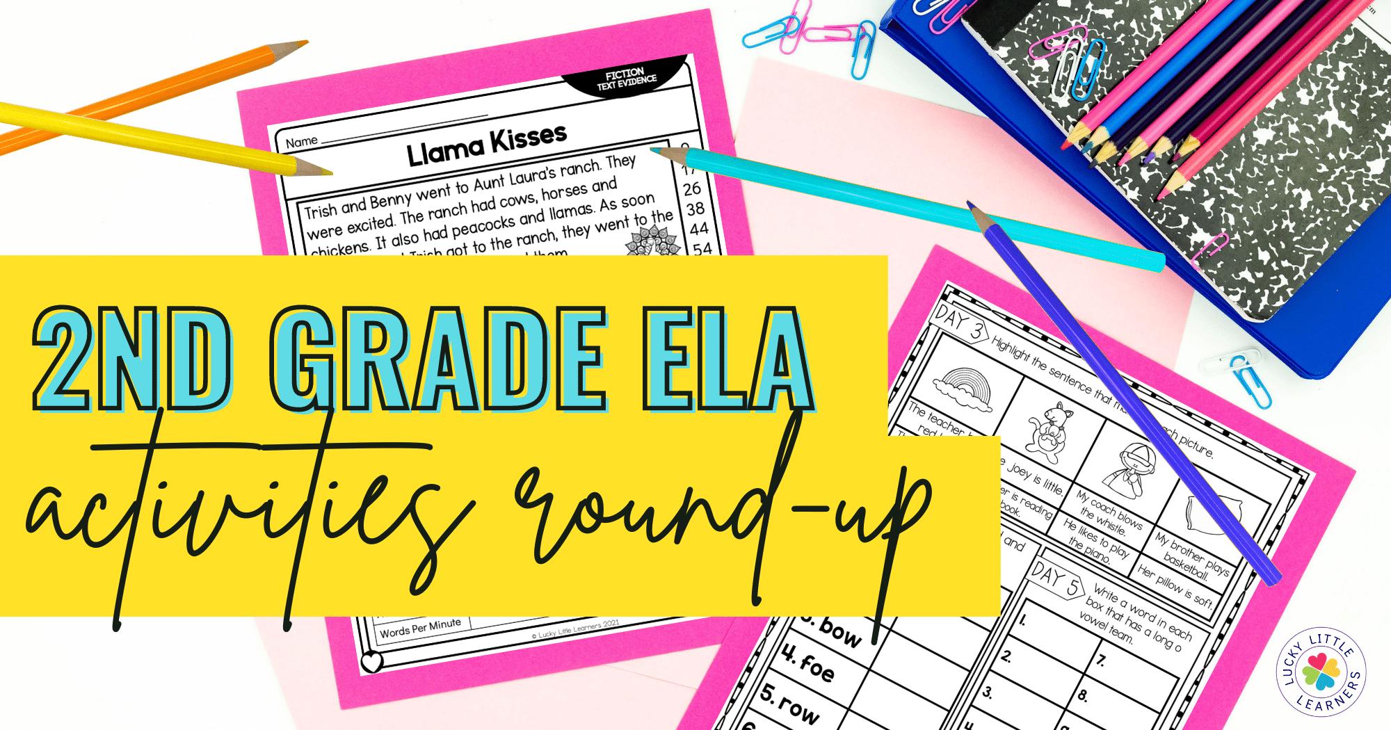 2nd grade round up of ela activities