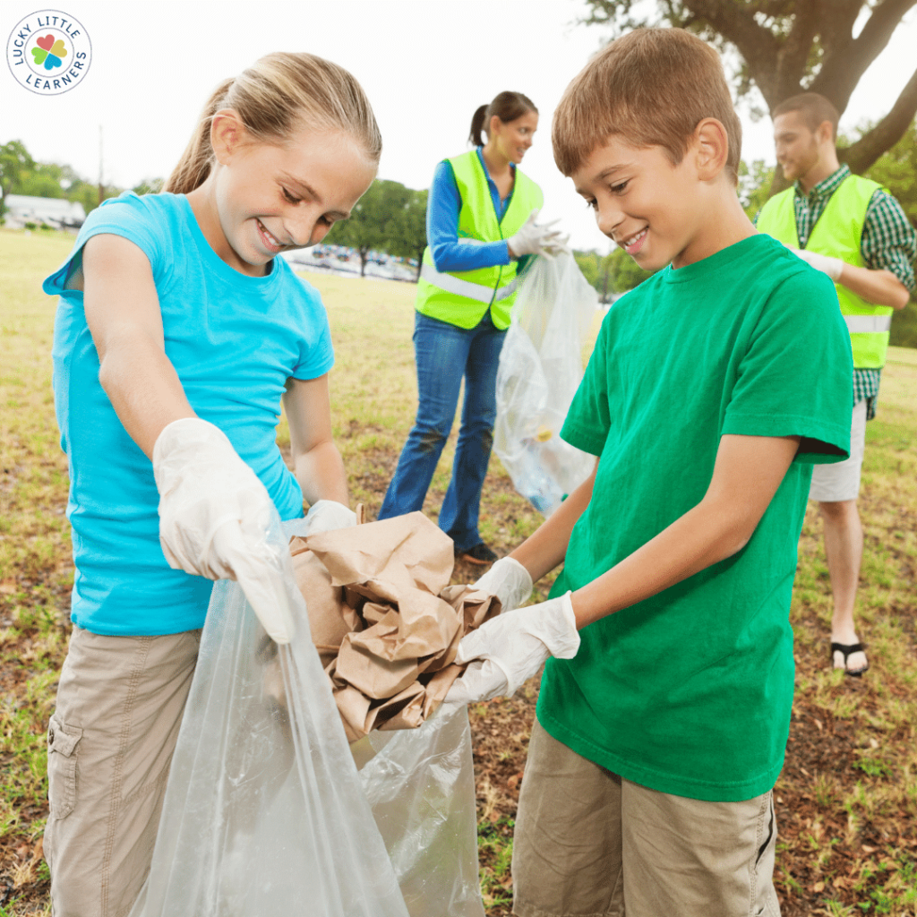 Grab those gloves and trash bags (if the district allows it!) and clean up the community! This teaches students to care for the community. It shows them how easily they can give back! (AND it gets them outside for fresh air!)