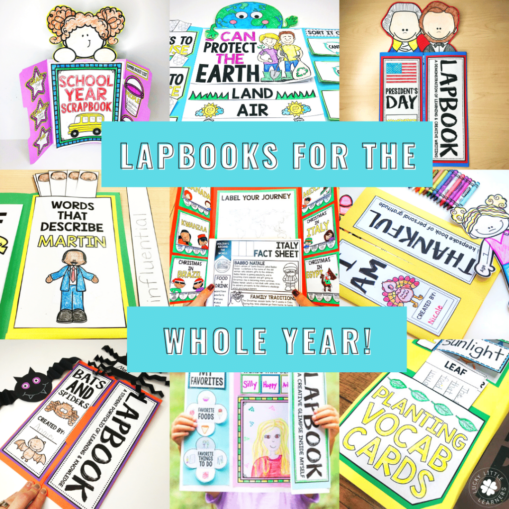 We've got lapbook ideas for the whole year for 1st - 3rd grade classrooms!