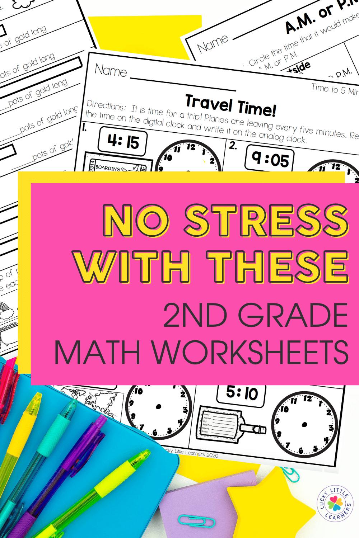 Stress Free 2nd Grade Math Worksheets