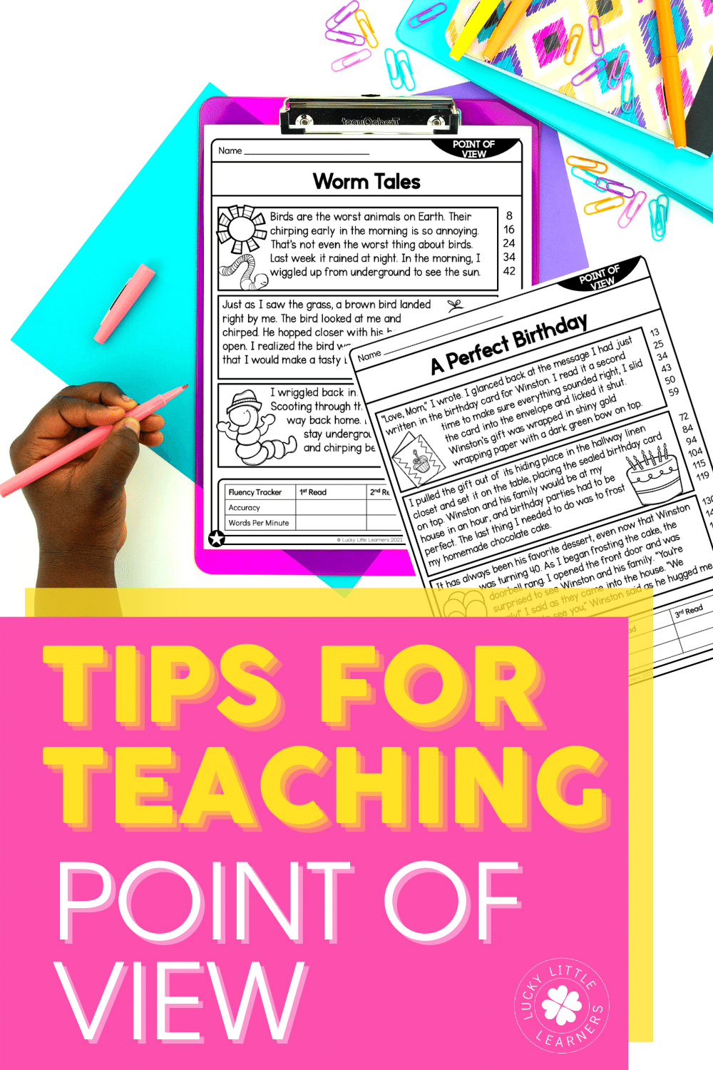 Point of view is a skill that can be viewed as overwhelming. How can you make sure your students retain the standard all while having fun? From introducing the skills, practicing, and then assessing we have you covered!