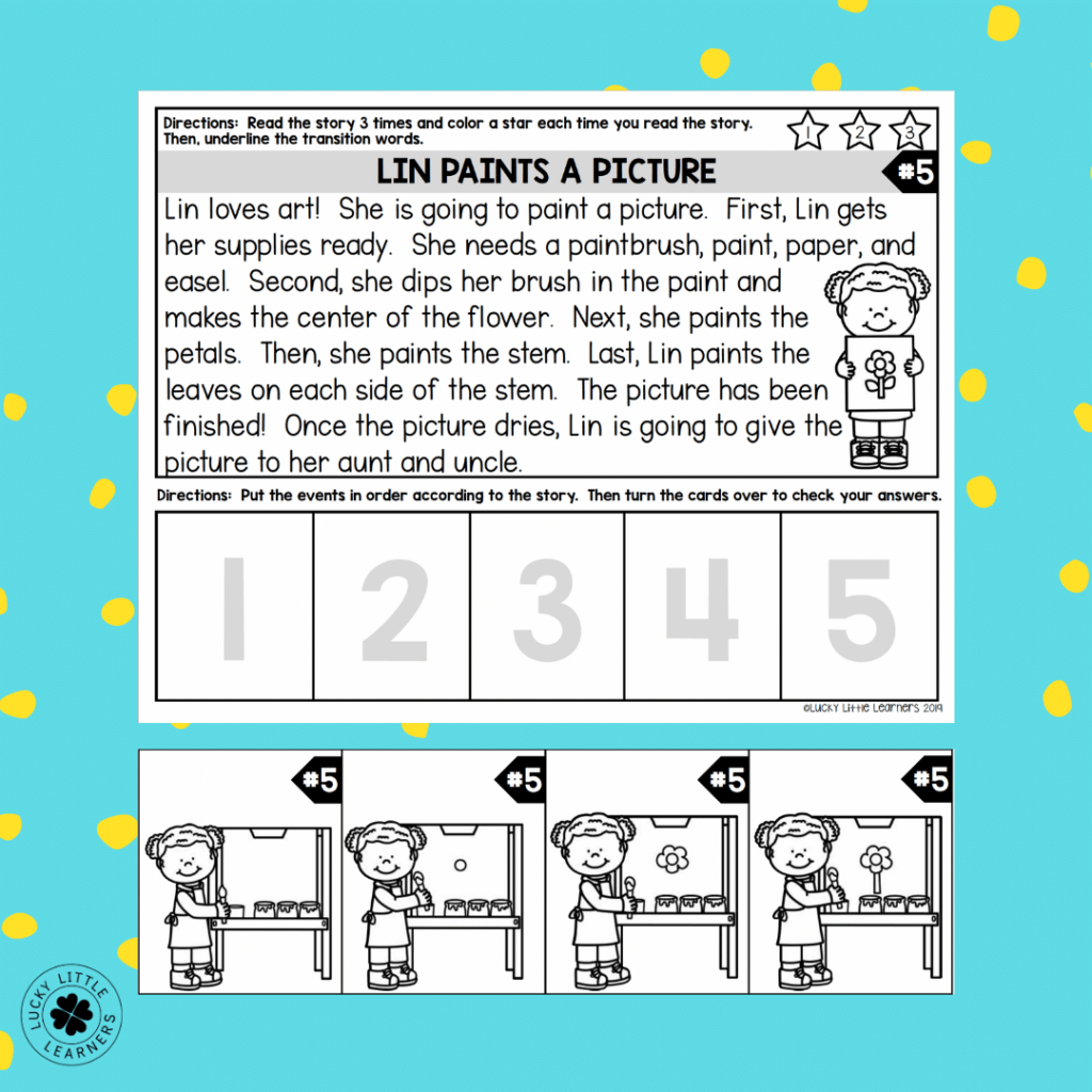 printable toothy sequencing mats