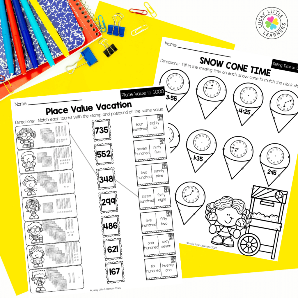 This review pack contains activities for math, ELA, Social Studies, Science, Art and SEL to review and practice skills from second-grade standards. Each worksheet is different and brings a bit of fun to the learning as well! Your students will be eager to grab their crayon or pencil and get to work!