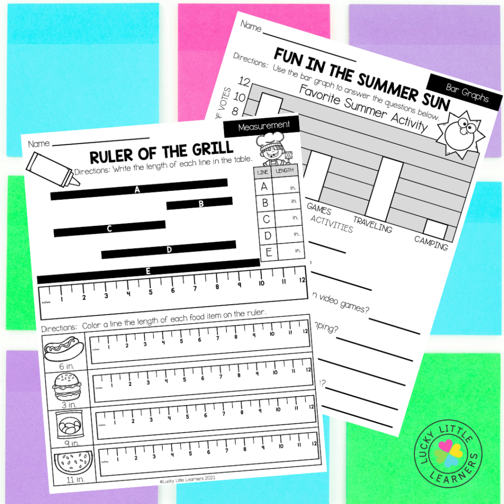 This summer review packet contains activities for math, ELA, Social Studies, Science, Art and SEL to review and practice skills from second-grade standards. Each worksheet is different and brings a bit of fun to the learning as well! Your students will be eager to grab their crayon or pencil and get to work!