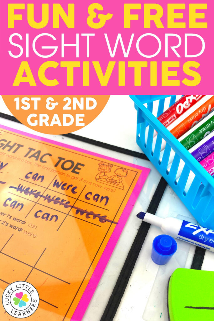 two free sight word activities for 1st and 2nd graders