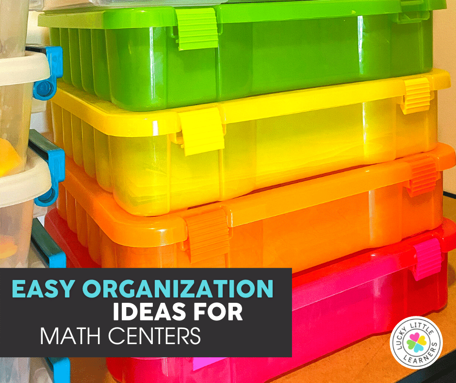 12 x 12 project cases for math center storage