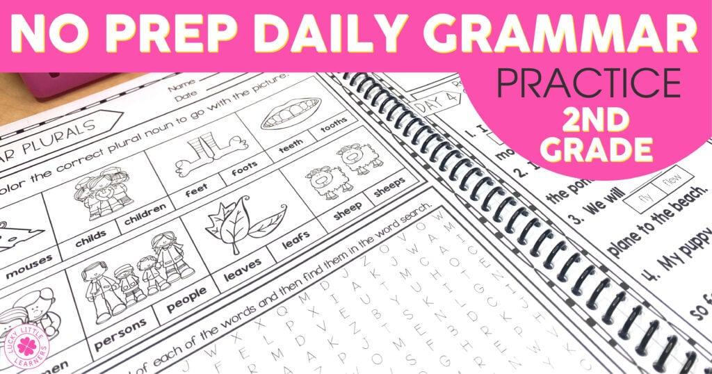 no prep daily grammar practice for 2nd Grade