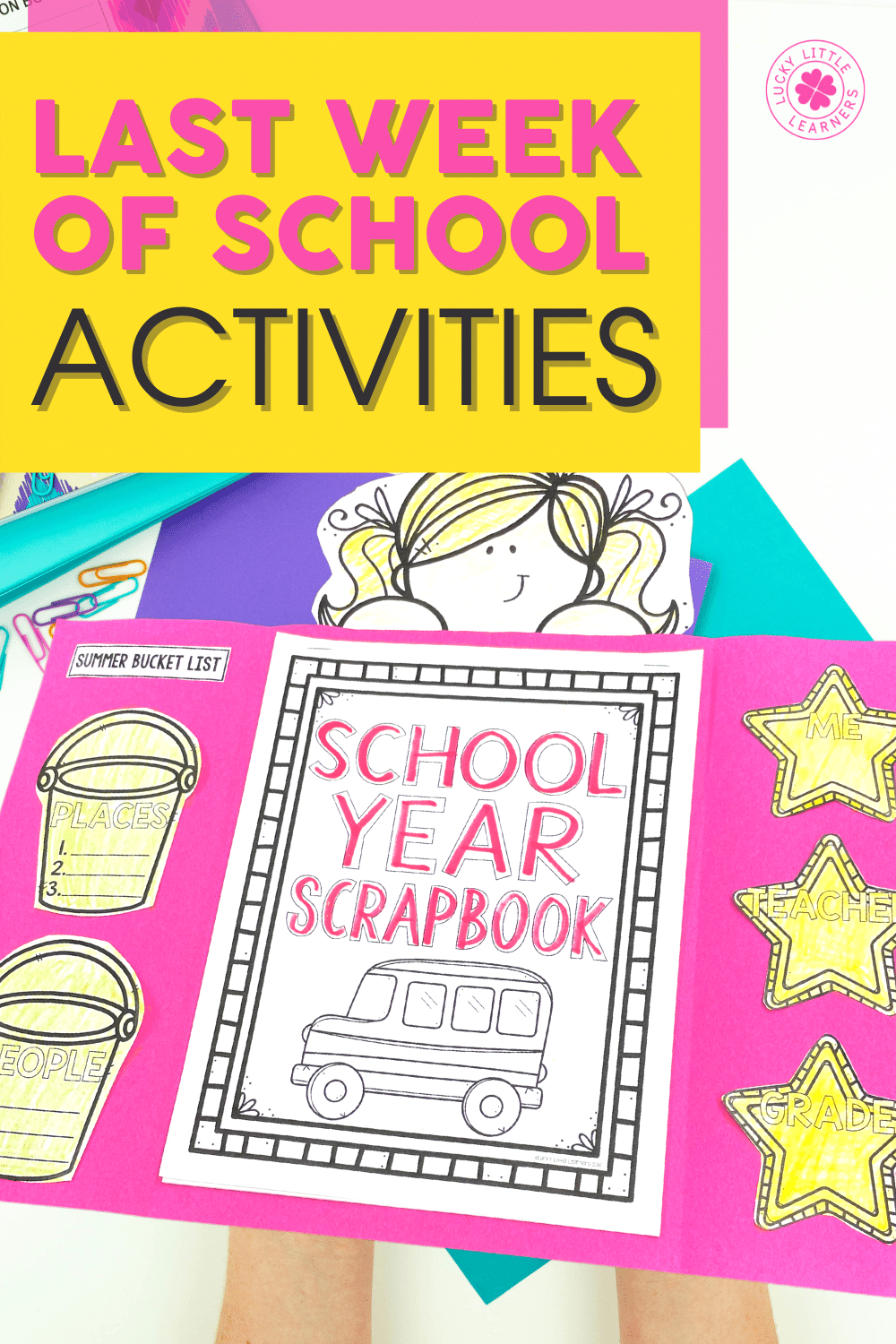 school year scrapbook for the last week of 1st or 2nd grade