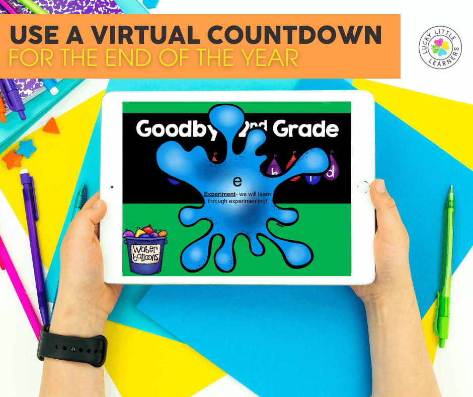 water balloon virtual countdown for the last days of school