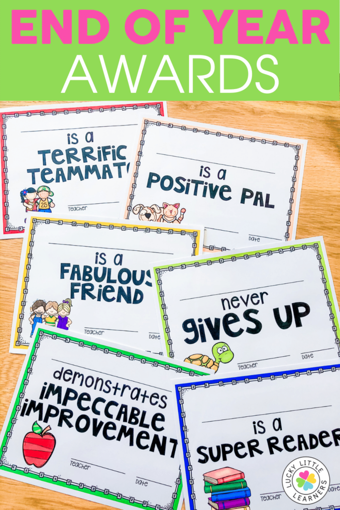 end of the year award certificate ideas