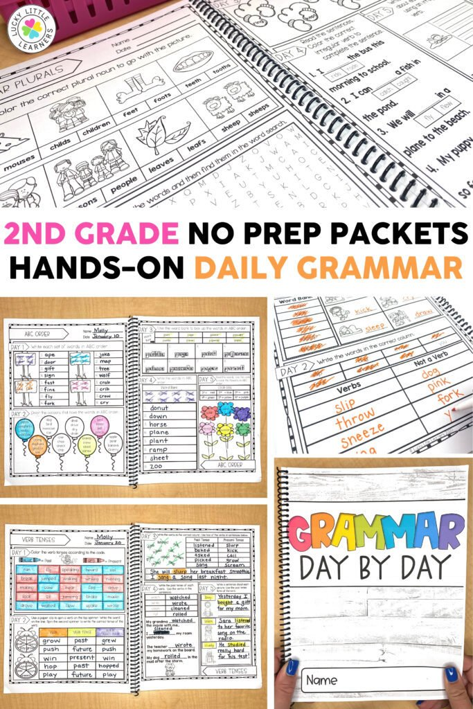 2nd grade no prep packets give hands-on grammar practice