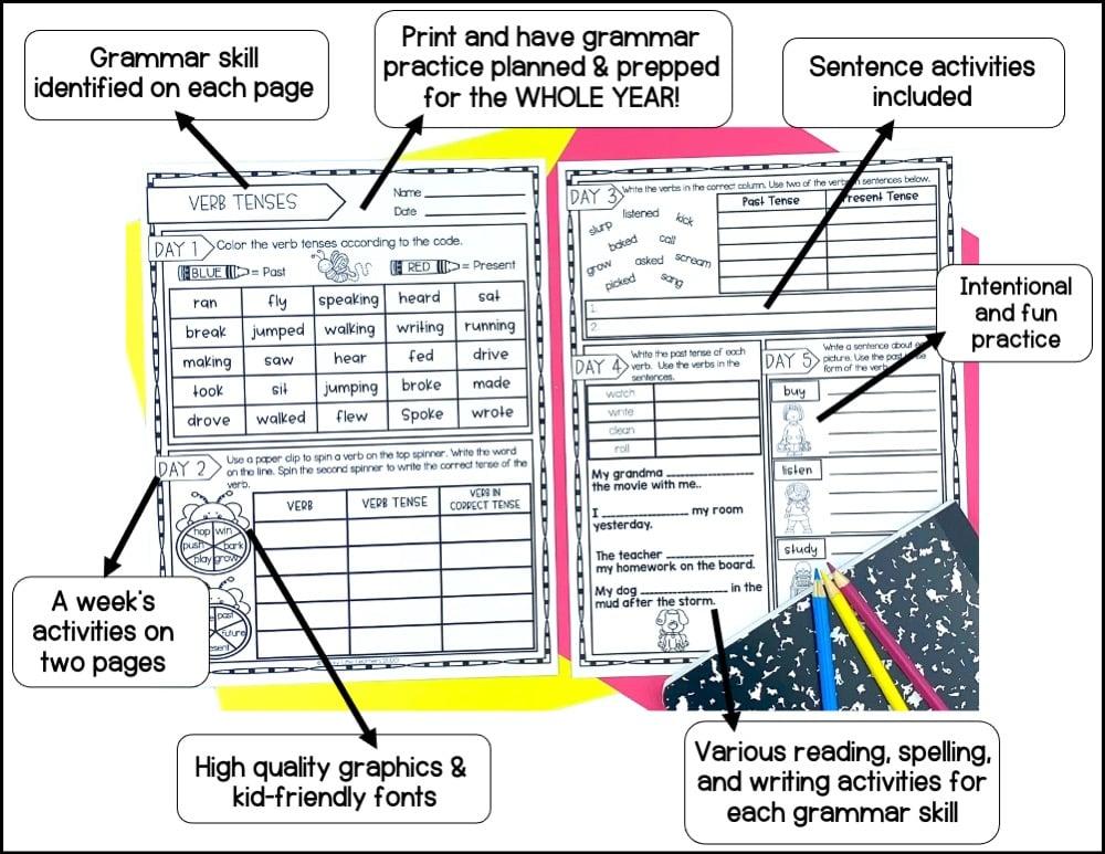 daily 2nd grade grammar tasks