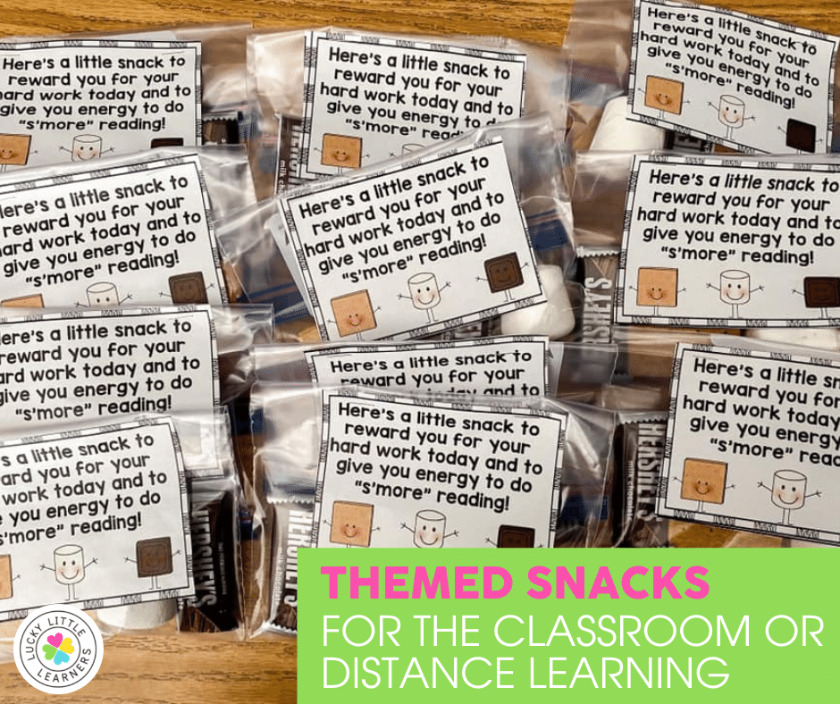 mini smores kits for students during the last week of school