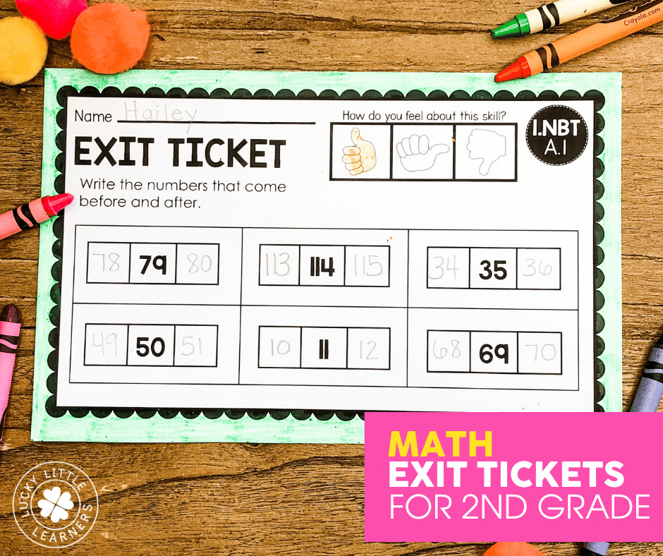 math exit ticket for 2nd grade