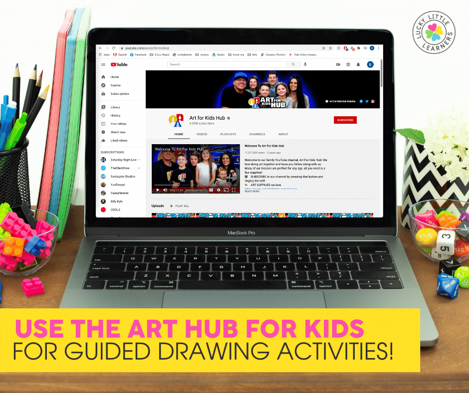 art hub for kids for guided drawing activities in 2nd grade