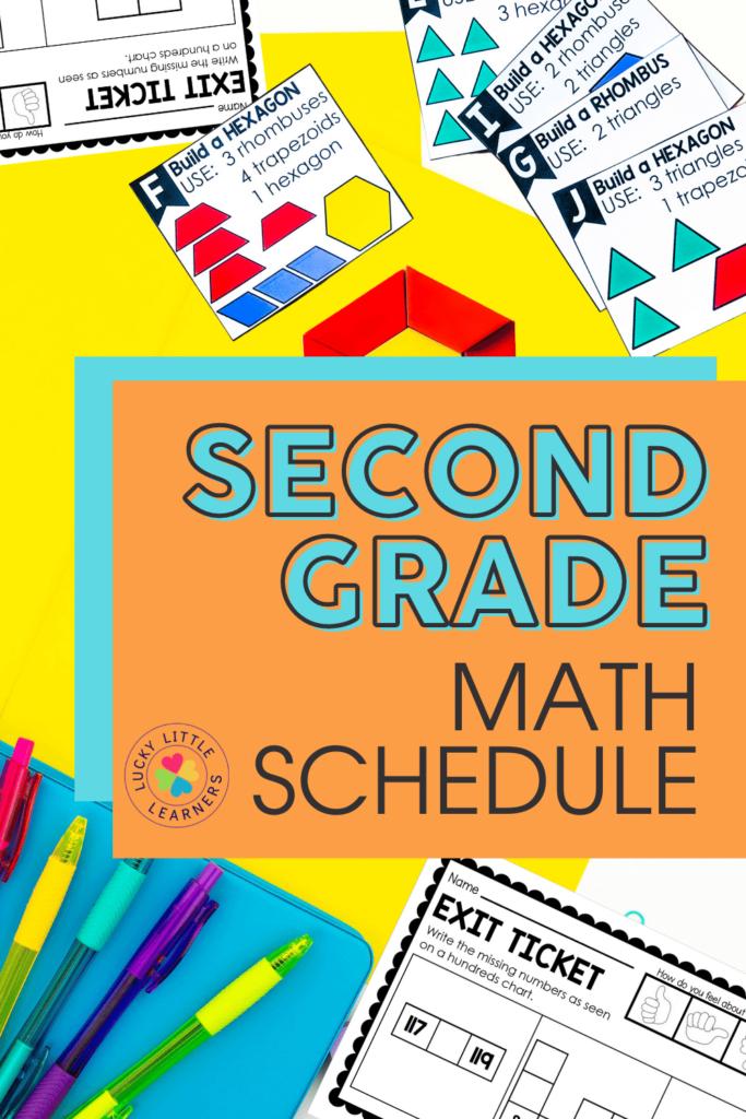second grade math schedule