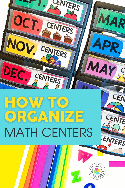 ways to organize math centers
