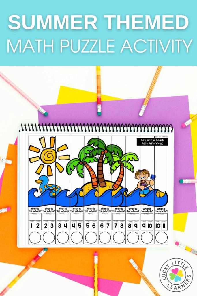 beach themed math puzzle
